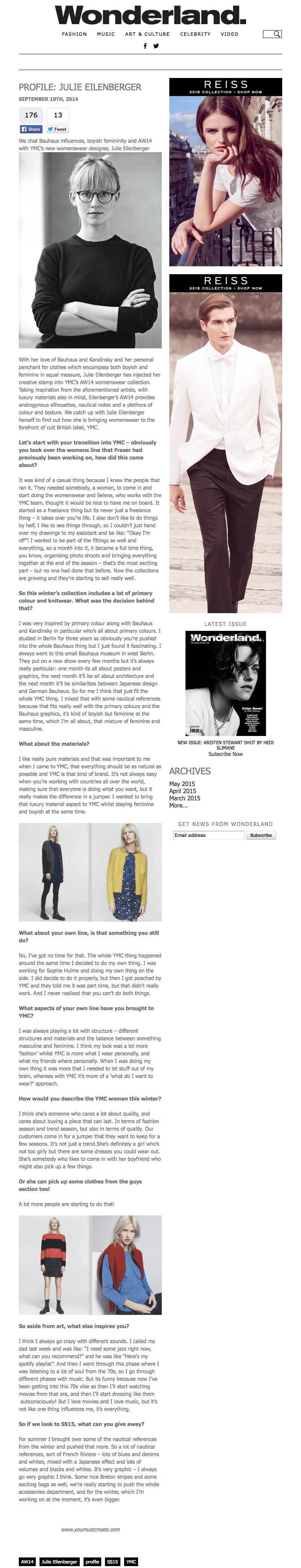 Profile: Julie Eilenberger | Wonderland Magazine - Wonderland Magazine