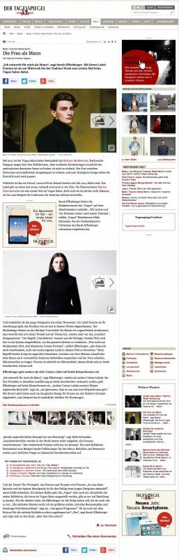 Sarah Effenberger im Tagesspiegel
