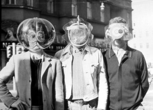 Laurids, Zamp and Pinter with Environment Transformers (Flyhead, Viewatomizer and Drizzler) 1968. Photo: Gert Winkler