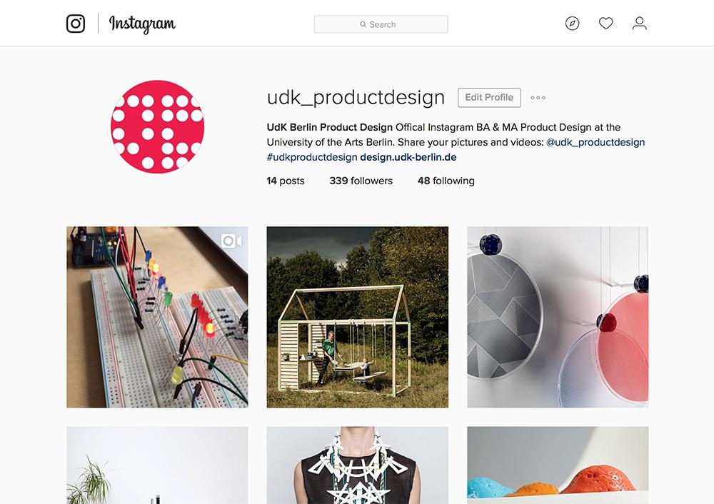 Produkt Design Berlin udk produkt design jetzt auch auf instagram studiengang design