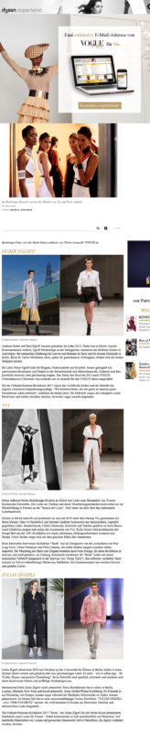 Das Vernetzen von nationalen Brands, Modeschulen, der Textilindustrie, von Einkäufern und der Presse steht im Vordergrund: Die Mode Suisse findet halbjährlich in Zürich statt und wird jedes Mal von Showroom-Präsentationen und Podiumsdiskussionen umrahmt. Dieses Mal feiert die Fördernitiative der Schweizer Mode bereits ihr 10. Jubiläum, die Show fand in einer ehemaligen Giessereihalle im Trendquartier Zürich-West statt, auf dem Runway gaben sich die Schweizer Topmodels Nadine Strittmatter und Tamy Glauser (ein Favorit von Nicolas Ghesquière) die Ehre. Die Mode dazu: Avantgarde mit Schweizer Präzision. Wir stellen die fünf spannendsten Talente der Schweizer Modewelt vor